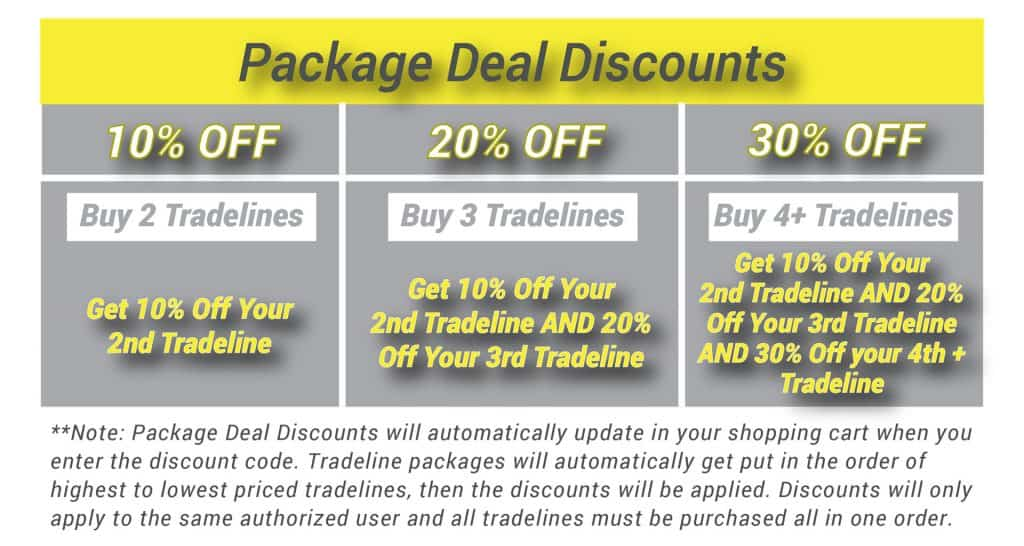 Tradeline Package Deal Discounts