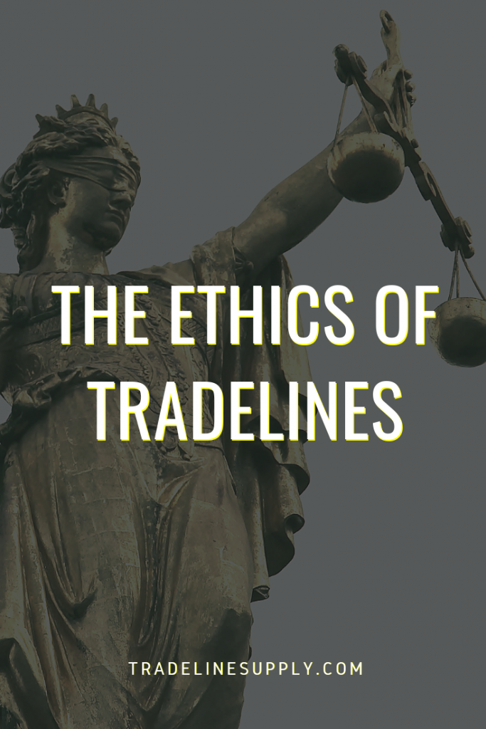 The Ethics of Tradelines Pinterest graphic