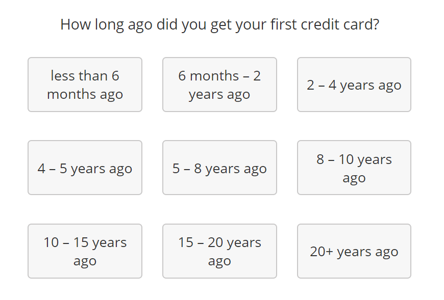 The myFICO credit score simulator gives a hint as to potentially important age levels in the first question.