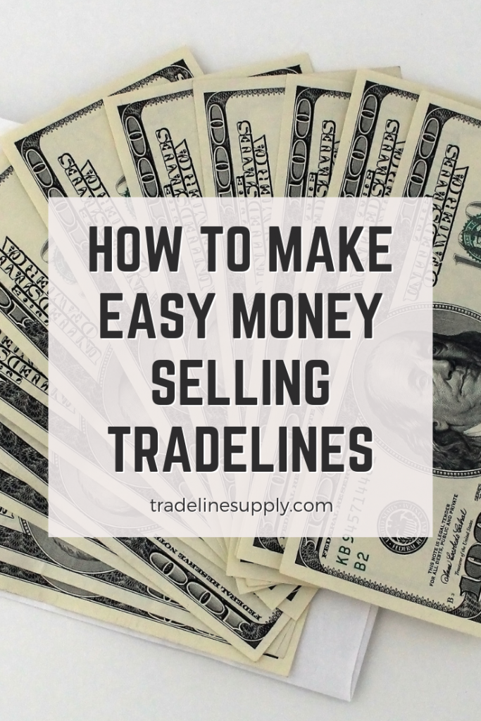 How to Make Easy Money Selling Tradelines Pinterest graphic