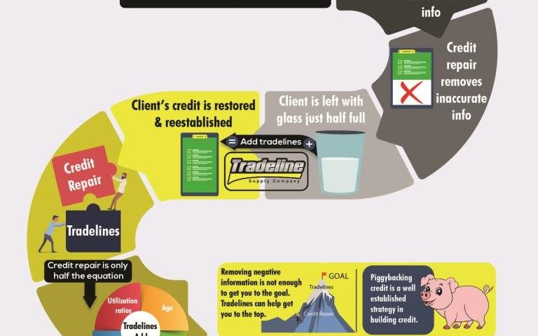 Credit Repair & Tradelines - Infographic