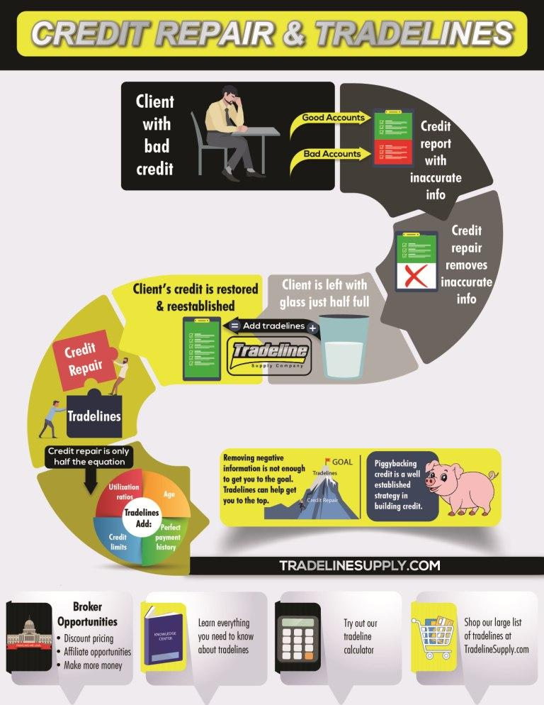 Credit Repair Vs Tradelines Infographic Tradeline