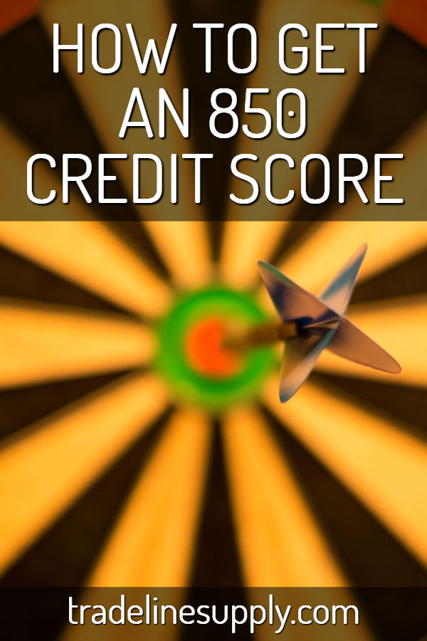 How to Get an 850 Credit Score Pinterest graphic