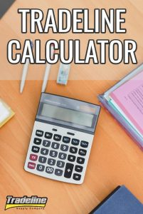 Use our tradeline calculator to calculate your credit utilization ratios.