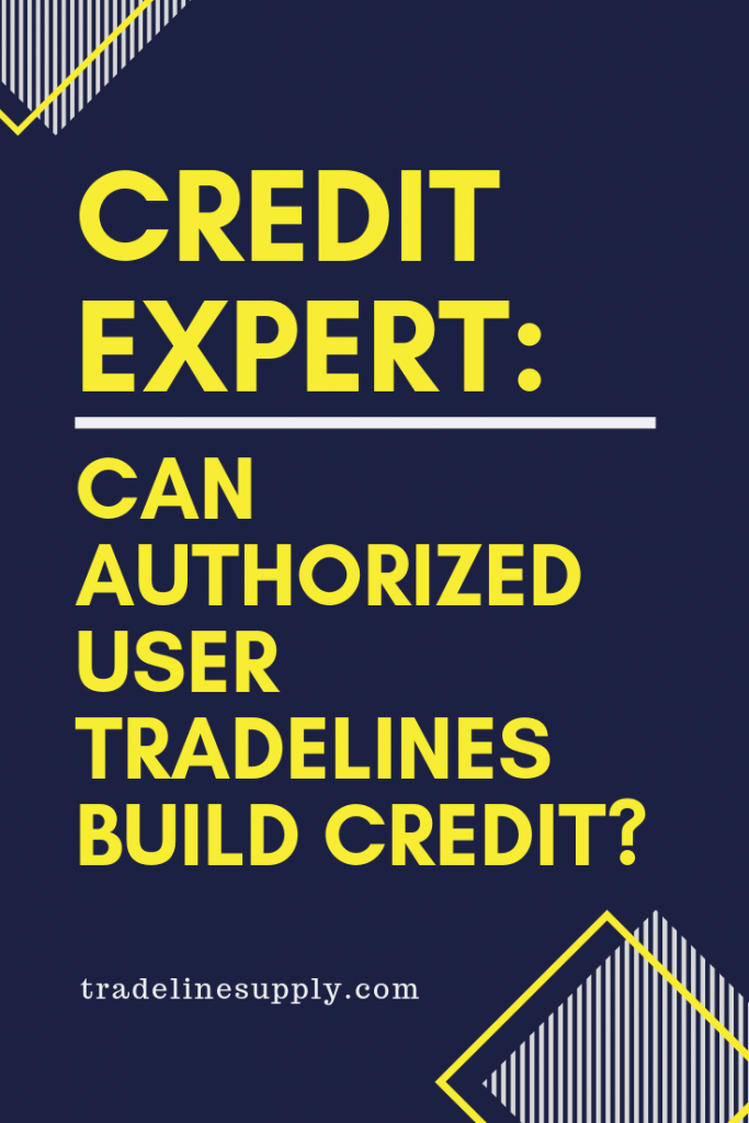 Credit Expert: Can Authorized User Tradelines Build Credit? Pinterest Graphic
