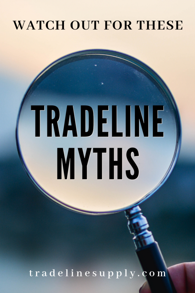 Tradeline Myths Pinterest graphic