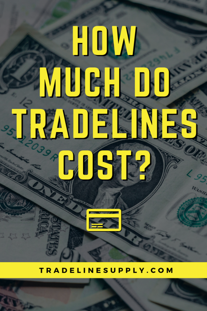 How Much Do Tradelines Cost? Pinterest graphic