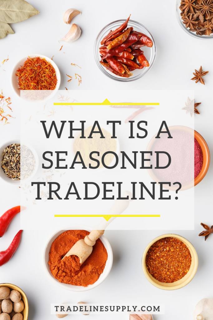 What Is a Seasoned Tradeline? Pinterest graphic
