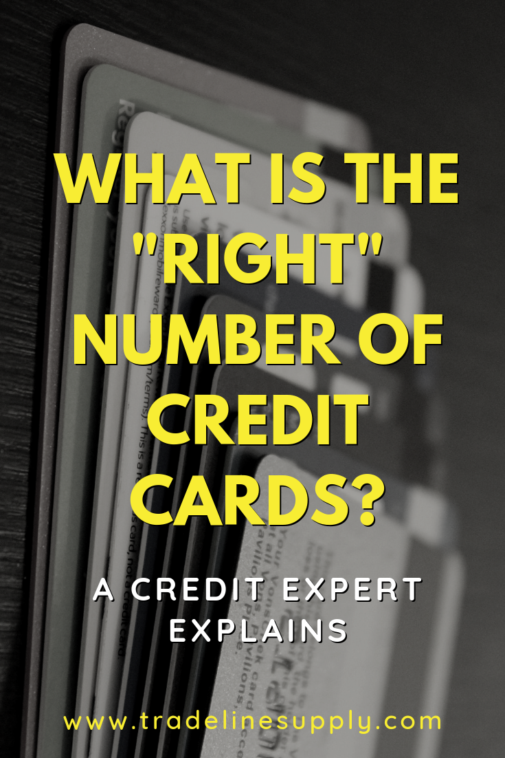 "What Is the ""Right"" Number of Credit Cards? Pinterest graphic"
