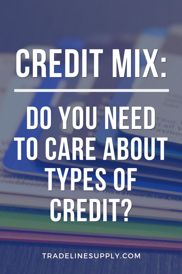 Credit Mix - Pinterest graphic