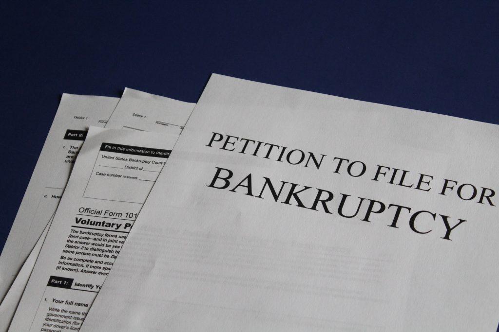 Bankruptcy derogatory credit item