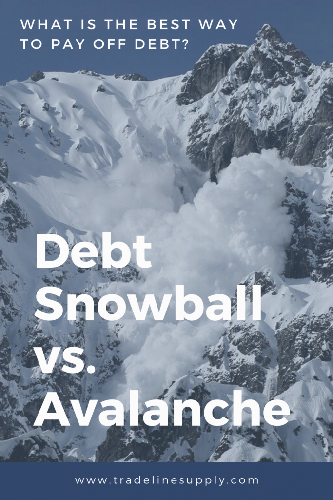Snowball vs. Avalanche: What Is the Best Way to Pay Off Debt? - Pinterest graphic