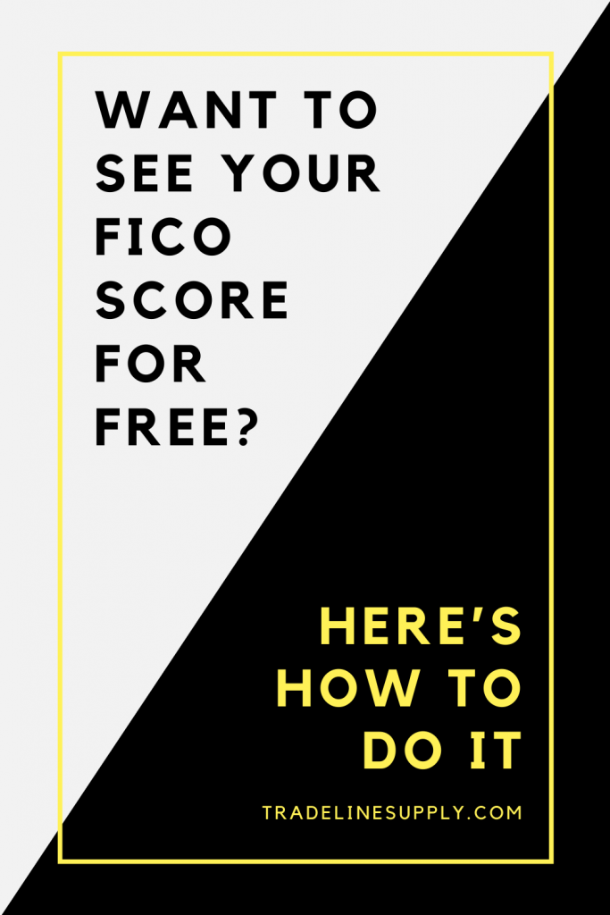 Want to See Your FICO Score for Free? Here's How to Do It - Pinterest graphic