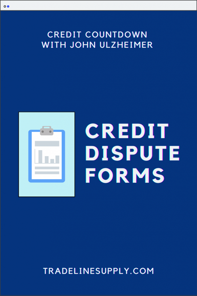 Credit Dispute Forms - Pinterest